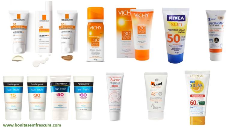 protetor solar. produtos