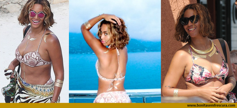 gold tattoos. beyonce