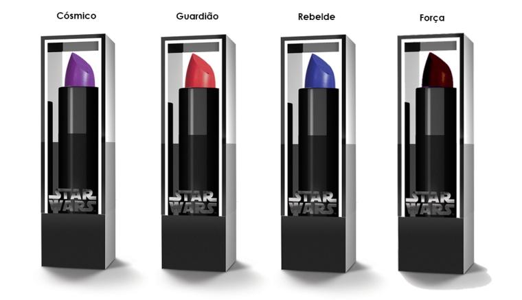 Star Wars Coleção. View Cosmeticos. Batons
