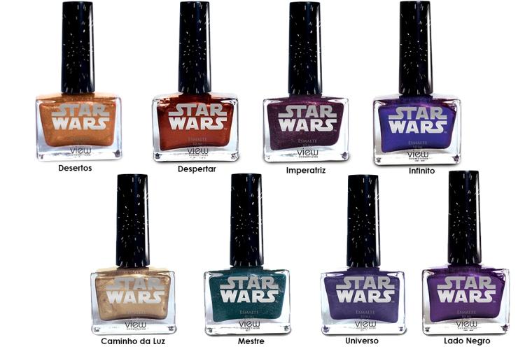 Star Wars Coleção. View Cosmeticos. Esmaltes